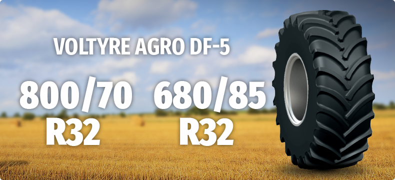 800/70R32 and 680/85R32 VOLTYRE AGRO DF-5
